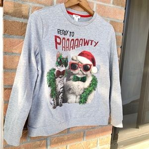 Forever 21 Ready to Paaaaaawty Christmas sweater